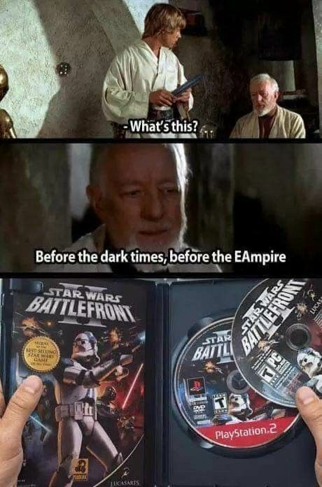 Pin By Will Cole On Video Game Memes Star Wars Jokes Funny Star Wars Memes Star Wars Facts