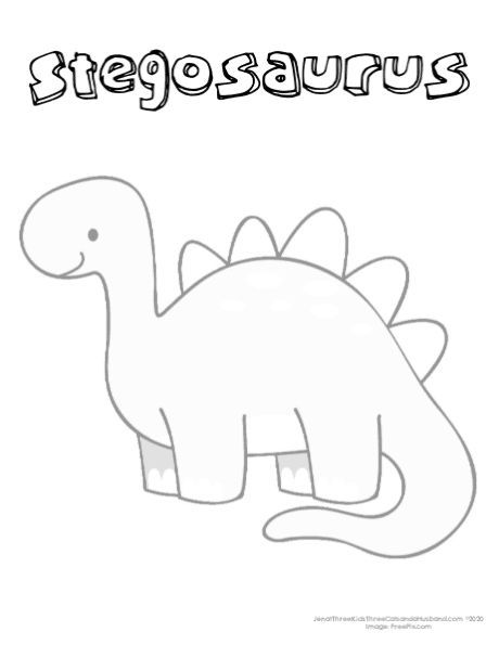 Free Printable Dinosaur Coloring Pages With Names In 2020 Dinosaur Coloring Pages Free Activities For Kids Dinosaur Coloring