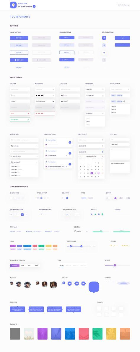 Eggplore UI Style Guide - uistore.design
