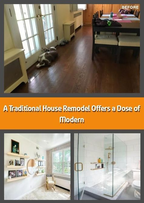A Traditional House Remodel Offers a Dose of Modern -    Good bones bring new li...  A Traditional House Remodel Offers a Dose of Modern –    Good bones bring new life to a kitchen,  #bones #bring #dose #good #House #MODERN #offers #Remodel #traditional