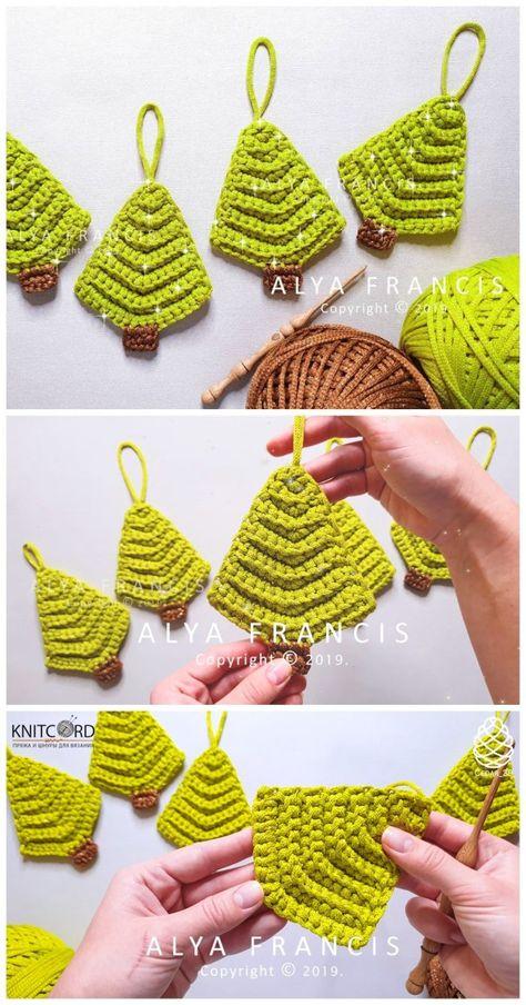 Crochet Easy Christmas Tree Ornament
