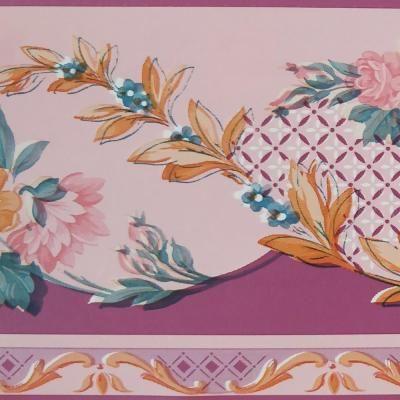 Dundee Deco Border Multi Wallpaper Border Bd3118 The Home Depot Floral Wallpaper Border Floral Wallpaper Blue Flower Wallpaper