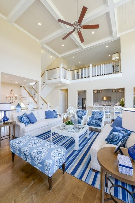 Home designs Home ideas Home ideas interiors Home must haves Home office Home plans builders Homes exterior Homes plans Grand Cayman Coastal Living Rooms, Living Room Decor, Blue Living Rooms, Navy And White Living Room, Bedroom Decor, Blue Rooms, Blue Bedroom, Bedroom Sets, Grand Cayman