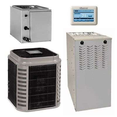 4 Ton 17 Seer 80 Afue 110000 Btu Airquest Gas Furnace And Air Conditioner Syst Locker Storage Storage Gas Furnace