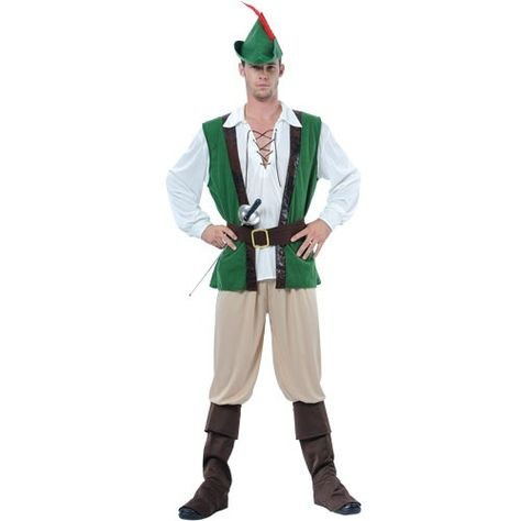 Mens Christmas Elf Tights Adult Green White Peter Robin Hood Fancy Dress Accesso