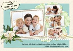 Happy Mother S Day Greeting Card Template Picture Collage Maker Free Collage Templates Free Collage