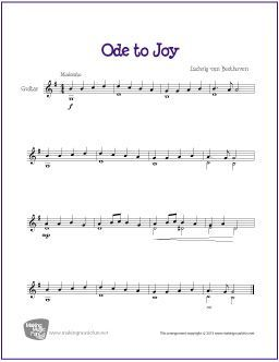 Ode To Joy Beethoven With Images Classical Guitar Sheet