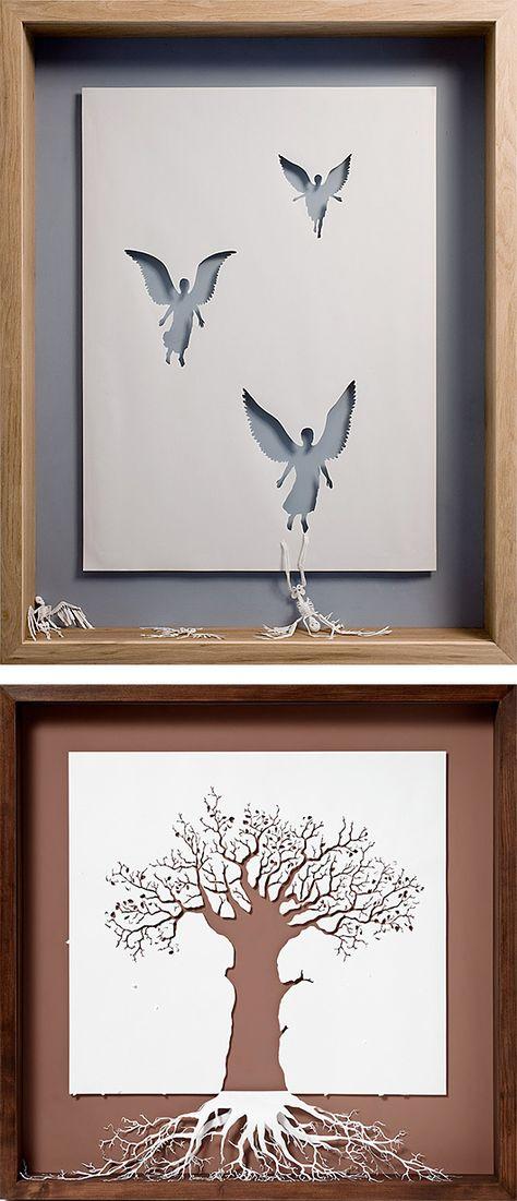 Paper Cut Sculptures by Peter Callesen