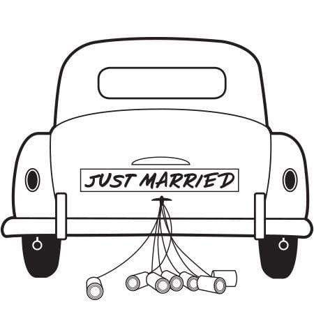 Just Married Car Stamp Rubberstamps Com Just Married Car Just Married Custom Rubber Stamps