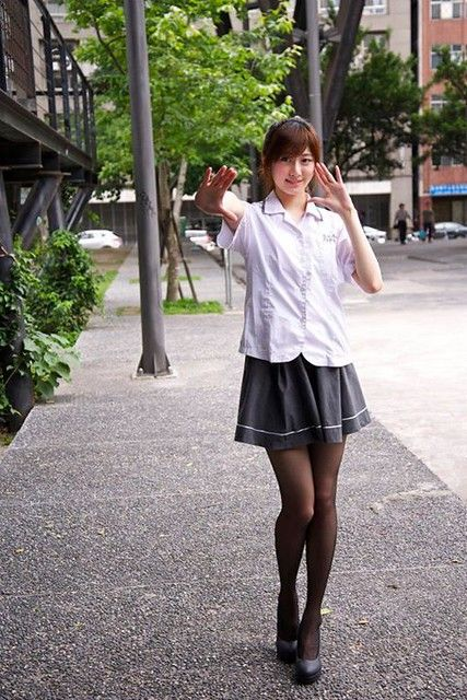 永仁高中 | School girl dress, Fashion tights, Mini dress outfits