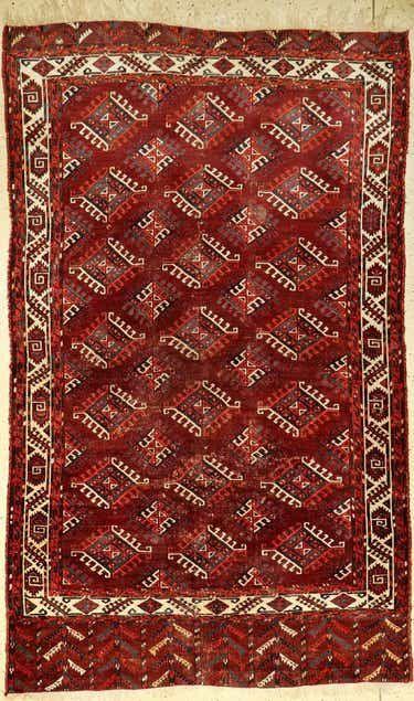Early Fine Turkmen Main Carpet Dyrnak Gul Jun 08 2019 Henry S Auktionshaus Ag In Germany Carpet Simple Carpets Silver Carpet