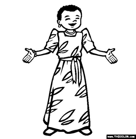 Icolor Little Kids Around The World Uganda Coloring Pages