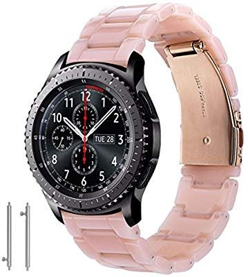 Cagos Compatible Samsung Galaxy Watch 46mm Bands Gear S3 Frontier Classic Bands 22mm Fashion Resin Bracelet Silicone Watch Band Resin Bracelet Watch Bands