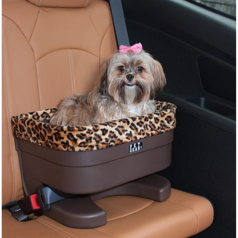 Bucket Seat Booster w/ Jaguar Insert - Pet Gear Gear's Bucket Seat Booster allows your pet to enjoy the ride without distracting the driver. This raised booster seat utilizes your vehicle's seat belt system to keep the seat in place. Lhasa Apso, Dog Car Booster Seat, Dog Car Seats, Small Dog Car Seat, Booster Seats, Pet Gear, Dog Carrier, Diy Stuffed Animals, Dog Supplies