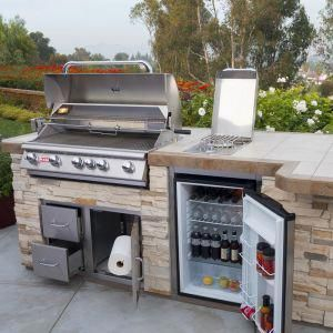Image Result For Outdoor Grill Island Storage Outdoorkitchencountertops Outdoor Grill Island Outdoor Kitchen Grill Island