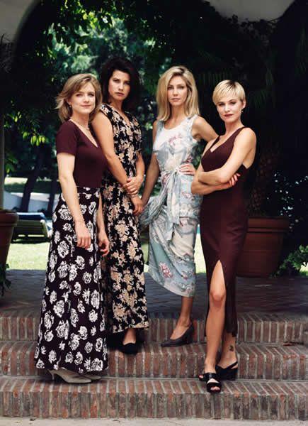Heather Locklear, Daphne Zuniga, Courtney Thorne-Smith, and Josie Bissett in Melrose Place