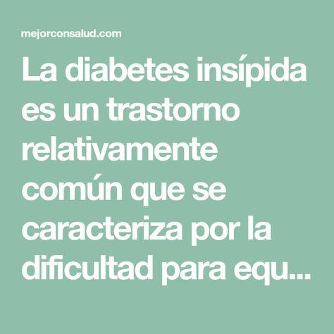fisiopatologia de la diabetes insipida diagnostico