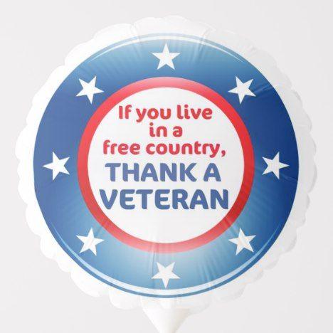 Free Country Veterans Day Balloon Zazzle Com In 2021 Veterans Day Clip Art Veterans Day Veteran