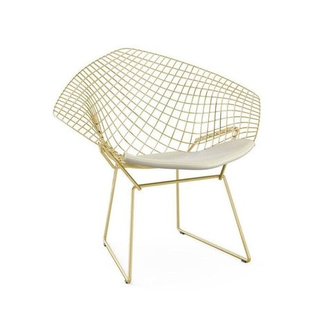 Reproduction Of Harry Bertoia Diamond Lounge Chair Gold Version