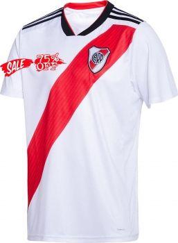 2d3099451376d 2018-19 Cheap Jersey River Plate Home Replica White Shirt [CFC682 ...
