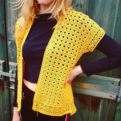 No Sew Mimosa Kimono Cardigan Crochet pattern by Sharon Murphy