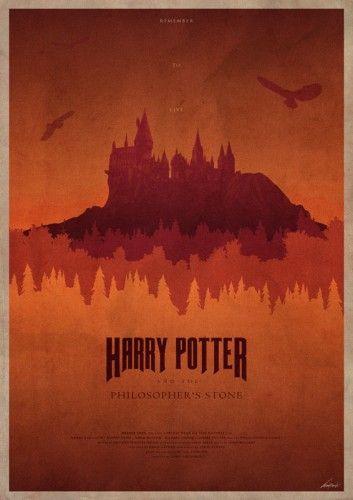 Plakat Inspirowany Filmem Harry Potter I Kamien Filozoficzny Harry Potter And The Philosopher S Harry Potter Poster Harry Potter Fan Art Harry Potter Art