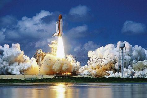 NASA Space Shuttle Blast Off - Space Flight Poster, 24x36