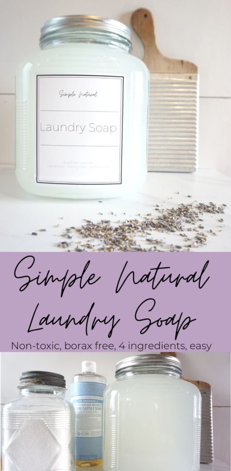 Simple Natural Laundry Detergent - Dogwood Grove Informations About Simple Natural Laundry Detergent Natural Laundry Detergent, Homemade Laundry Detergent, Homemade Cleaning Products, Natural Cleaning Products, Cleaning Tips, Natural Cleaning Recipes, Natural Products, Essential Oils For Laundry, Diy Recycling