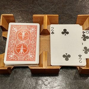 2 Deck Wood Canasta Uno Card Tray 1 Deep In Cherry Etsy Wood Card Playing Card Holder Diy Playing Cards