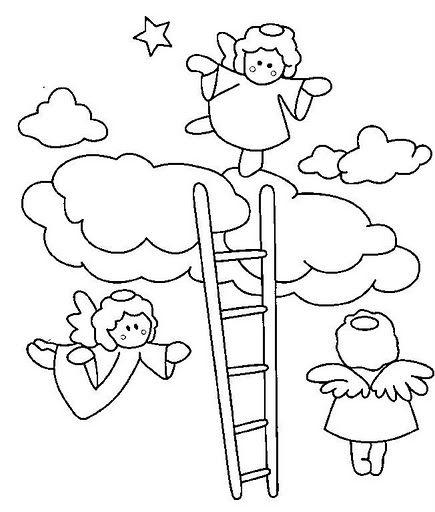 Dibujos De Angelitos Para Bautizo Para Colorear Imagui Applique Quilts Quilts Cards