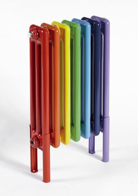 Modern radiators will inject both colour and heat into your home