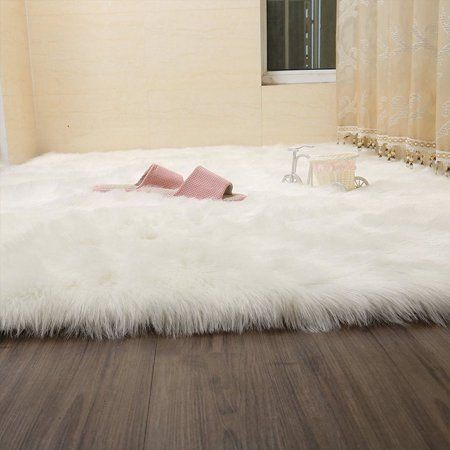 Popeven Modern Area Rugs Faux Fur Sheepskin Rug Fluffy Room Carpets Stylish Home Decor Accent For Room Bedroom Nursery Kids Room Rug Bedroom Carpet Room Carpet