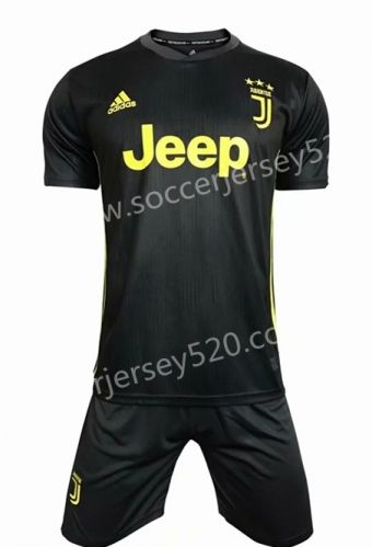 designer fashion ff945 82ed0 2018-19 Juventus 2nd Away Dark Gray Soccer Uniform | Quality ...