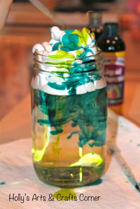 Holly's Arts and Crafts Corner: Art & Science Collide: Cloud Jars