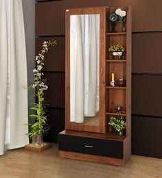 Buy Morris Dresser Unit In Brown Finish With Storage Behind Mirror By Durian Online Dressing Units Tables Furniture Pepperfry Product Decor Home Living Room Furniture Design Living Room Dressing Mirror Designs