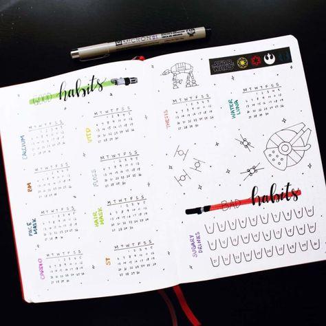 65+ Amazing Star Wars bullet journal theme ideas   My Inner Creative