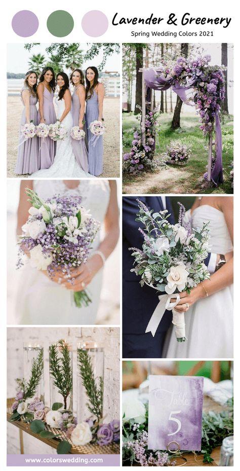 Lavender Wedding Colors, Lavender Bridesmaid Dresses, Spring Wedding Flowers, Lavender Weddings, Lavender Bouquet, Spring Wedding Themes, Purple Wedding Themes, July Wedding Colors, Wildflowers Wedding