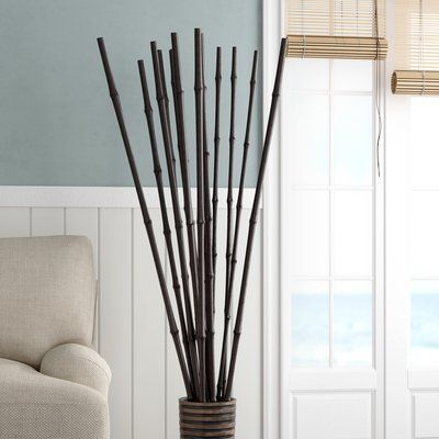 Bay Isle Home Evansville Bamboo Poles Sculpture In 2020 Bamboo Poles Bamboo Sticks Decor Decor