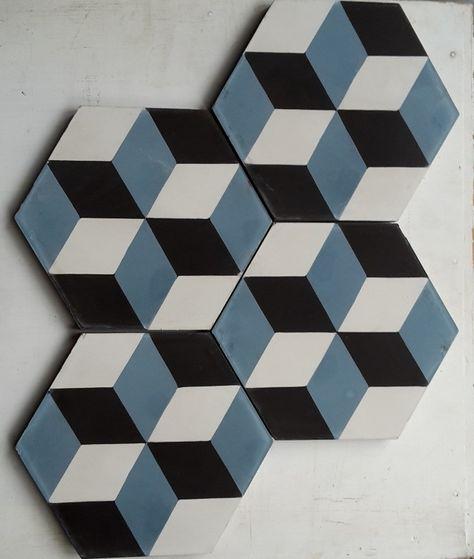 Carreaux De Ciment Modele Hch 30 1 Hexagonal En 15x15 Charme