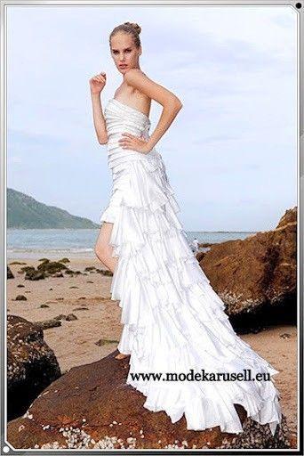 Abendmode Vokuhila Abendkleid Mit Schleppe In Weiss Abendkleid Mit Schleppe Vokuhila Abendkleid Abendkleid
