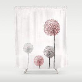 Dandelion Shower Curtain Bathroom Shower Curtains Curtains Bathroom Decor