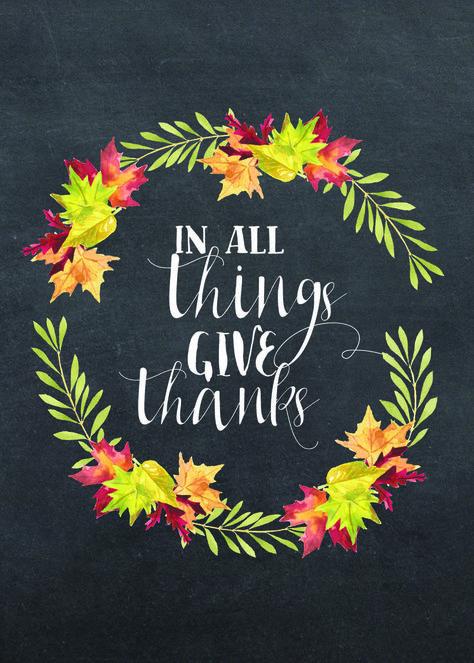 Thanksgiving Chalkboard Printable - free download perfect for Thanksgiving day! #gratitude #givethanks  #freeprintable