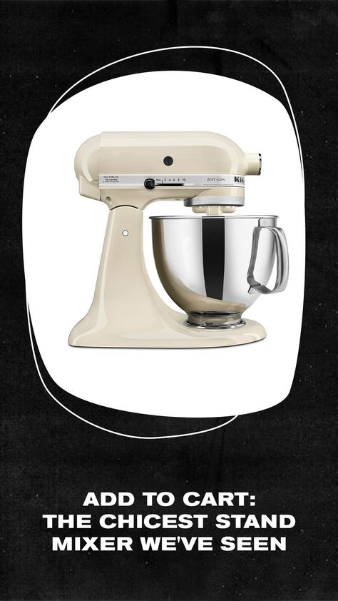 The sleekest stand mixer we've seen in the chicest almond hue. #ad