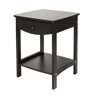 Details About Sofa Side End Table With Shelf 1 Drawer Nightstand Coffee Table For Living Room Coffee Table With Drawers Side Table Wood End Tables With Drawers