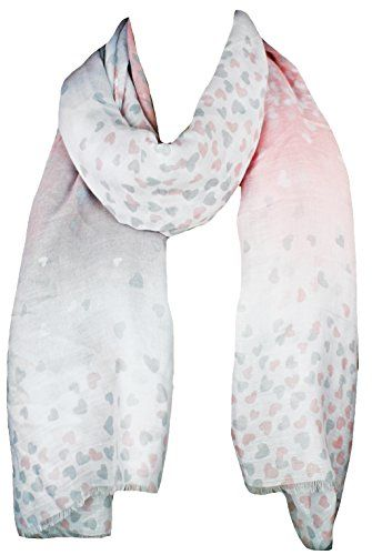 Zwillingsherz Schal Damen mit Streifen Muster 180 x 90cm Eleganter Sommerschal//Tuch f/ür Frauen und M/ädchen Hochwertiges Seidentuch//Seidenschal Halstuch und Chiffon-Stola