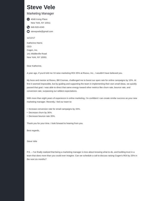 how to end a cover letter template concept