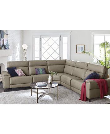 Surprising Raymere 6 Pc Leather Sectional Sofa With 2 Power Recliners Ocoug Best Dining Table And Chair Ideas Images Ocougorg