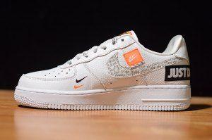 Nike Air Force 1 07 Just Do It Pack White Black Total Orange