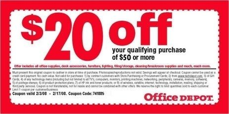 coupons office depot