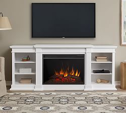 Real Flame 0174 Lynette Corner Electric Fireplace Media Cabinet